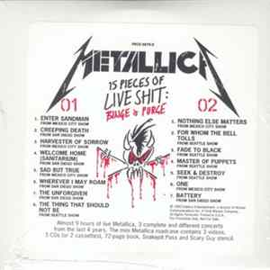 Album Metallica - 15 Pieces Of Live Shit: Binge & Purge